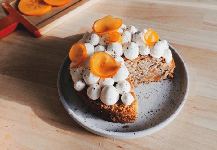 Gâteau au Kakis & Poivre de Timut