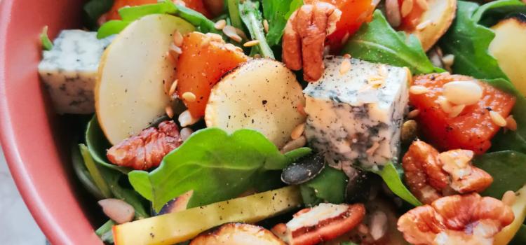 Salade d'automne au Bleu de Gex
